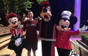 Hanging out with Mickey and Friends before the Wine and Dine Half Marathon