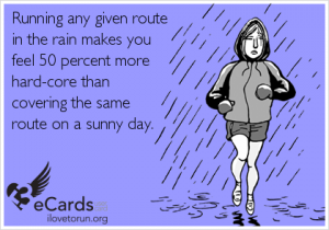 running in the rain is hardcore